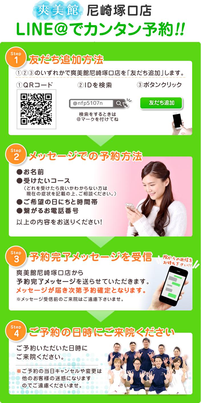 尼崎塚口店LINE予約の流れ