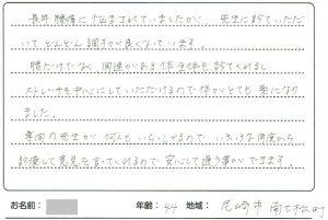 尼崎市 整骨院・整体院 爽美館:患者様の口コミ画像